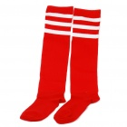 Professional Football Stocking for Adult - Red + White Stripe (Pair/Set)