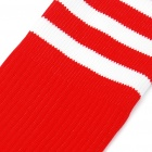 Professional Football Socks for Adult - Red + White Stripe (Pair/Set)