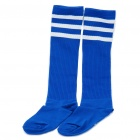 Professional Football Socks for Adult - Blue + White Stripe(Pair/Set)