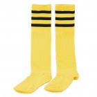 Professional Football Stockings for Adult - Yellow + Black Stripe (Pair/Set)