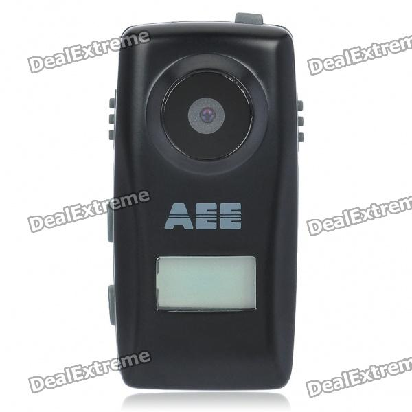 0.6 LCD 2 MP CMOS Hands-free Mini DV Video Camera with USB/TF Slots - Black