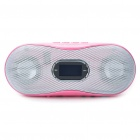 "1.0"" LCD Mini USB Rechargeable MP3 Player Speakers w/ FM/TF/Line-in - Pink"