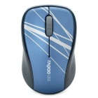 Rapoo 3100P 5.8GHz Wireless 1000DPI Optical Mouse with USB Receiver - Blue + Black (2 x AA)