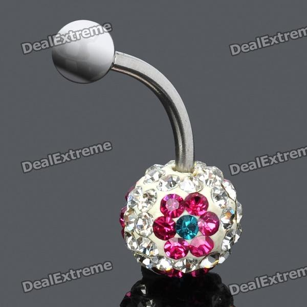 1,6 mm Chirurgenstahl 316L Bend-Strass Navel Stud Nails Piercing Ring