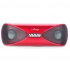 AESOP USB Rechargeable MP3 Player Speakers w/ SD/USB - Red