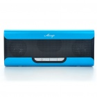 Portable Fashion Music Speaker Player with FM/AUX/USB/TF - Blue
