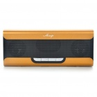 Portable Fashion Music Speaker Player with FM/AUX/USB/TF - Golden