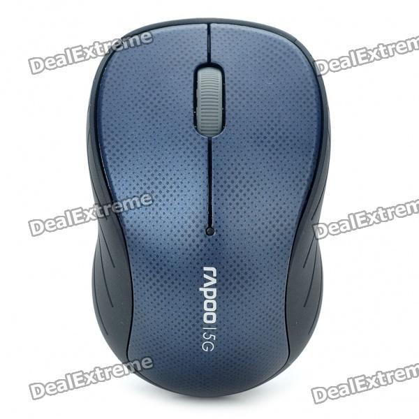 Rapoo 3000P 5.8GHz Wireless 1000DPI Optical Mouse with USB Receiver - Black + Blue (2 x AA) motospeed g310 fashion wireless 1000dpi optical mouse black red 1 x aa