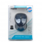Rapoo 3000P 5.8GHz Wireless 1000DPI Optical Mouse with USB Receiver - Black + Blue (2 x AA)