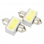 31mm 3W 6500K 110-Lumen 2-5050 SMD LED White Light Car Indoor/License Plate Lamps (DC 12V/Pair)