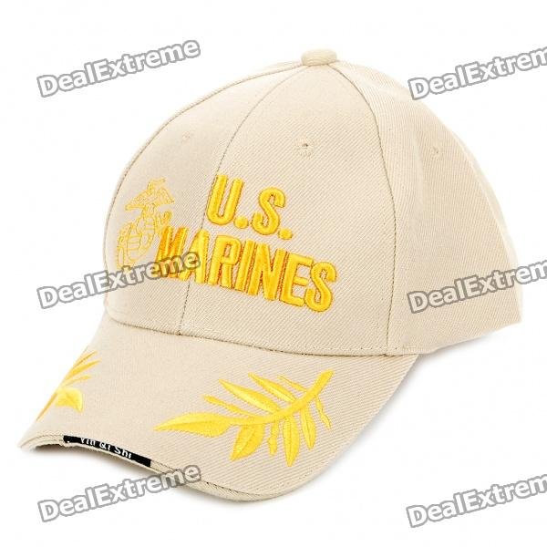 Embroidered US MARINE Pattern Cotton Fabric Baseball Hat/Cap (Random Color)