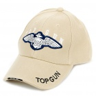 Embroidered Top Gun Pattern Cotton Fabric Baseball Hat/Cap (Random Color)