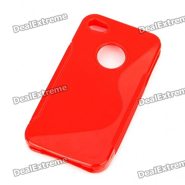"Protective ""S"" Pattern PVC Back Case for Iphone 4S - Red от DX.com INT"