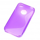 "Protective ""S"" Style PVC Back Case for Iphone 4S - Purple"