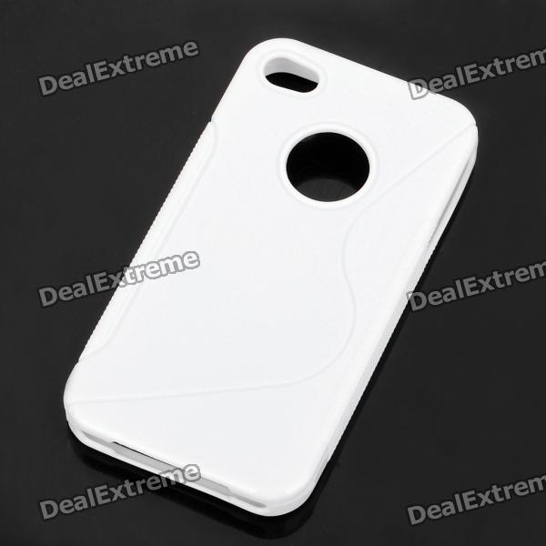 "Protective ""S"" Style PVC Back Case for Iphone 4S - White"