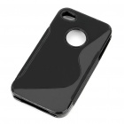 "Protective ""S"" Style PVC Back Case for Iphone 4S - Black"