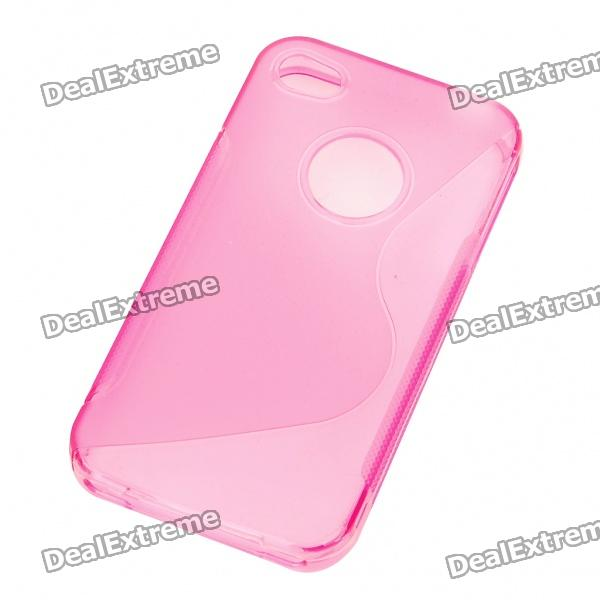 "Protective ""S"" Style PVC Back Case for Iphone 4S - Pink от DX.com INT"