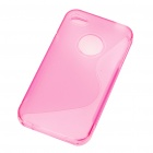 "Protective ""S"" Style PVC Back Case for Iphone 4S - Pink"