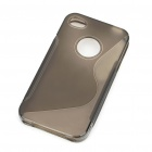 "Protective ""S"" Style PVC Back Case for Iphone 4S - Grey"