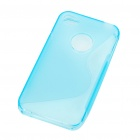 "Protective ""S"" Style PVC Back Case for Iphone 4S - Blue"