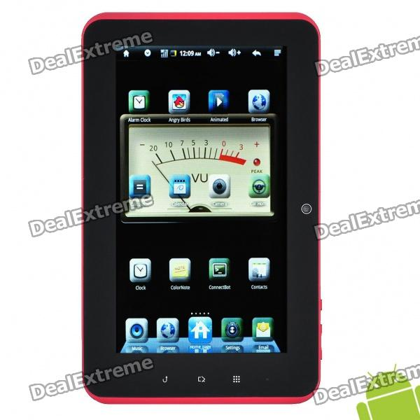 "7"" Capacitive Touch Screen Android 2.3 Cortex A9 Tablet PC - White + Red"