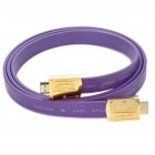 1080P HDMI V1.3 Male to Male Flat Connection Cable - Purple (150CM-Length)