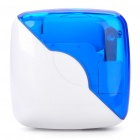 Portable Folding AC/Car Cigarette Powered Adapter Charger w/ 8 Cell Phone Adapters - White + Blue