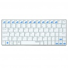 Rapoo E6300 Ultra-thin Handheld Rechargeable Bluetooth 3.0 Wireless 80-Key Keyboard - White