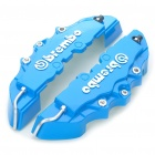 Car Front Brake Calipers Plastic Decorative Covers - Blue (Pair)