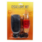 Bike Safety Lamps Set (High Power Front + 5-LED Rear)
