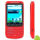 "H200 2,8 ""Touch Screen Android 2.2 Qwerty Dual SIM Quadband GSM TV Cell Phone w / Wi-Fi - Red"
