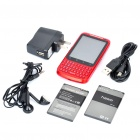 "H200 2.8"" Touch Screen Android 2.2 Qwerty Dual SIM Quadband GSM TV Cell Phone w/ Wi-Fi - Red"