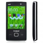 "Genuine Coolpad W702 2,8 ""Touch Screen 3G WCDMA Dual-SIM-Bar Telefon w / Java + FM - Black"