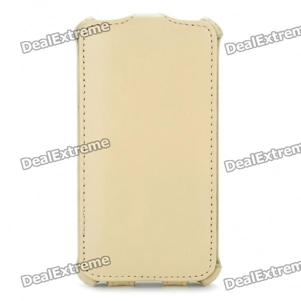 ROCK Protective Genuine Leather Case for Samsung i9100 Galaxy S2 - Beige