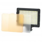 7.6W 5600K 520LM 2-Mode 108-LED White Light Video Lamp with Filters for Camera/Camcorder (4 x AA)