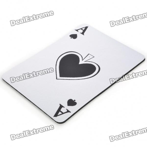Poker Spade A Pattern Natural Rubber Mouse Pad Mat - White сумка kate spade new york wkru2816 kate spade hanna