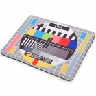 Television Signal Test Pattern Natural Rubber Mouse Pad Mat - Yellow + Black
