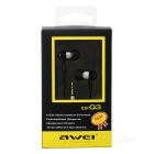 Awei ES-Q3 Fashion 3.5mm In-Ear Stereo Earphone for IPHONE - Silver