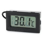 "1.5"" LCD Car/Home Outdoor Digital Thermometer - Black (2 x LR44)"