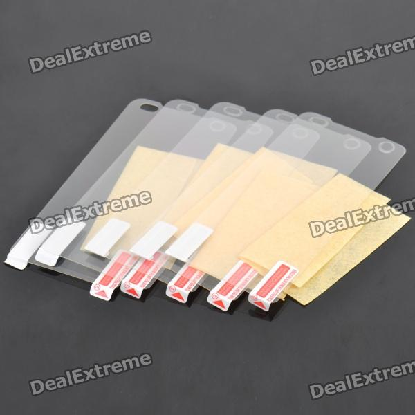Glossy Screen Guards Protectors w/ Cleaning Clothes for LG Optimus P990 / P993 (5-Pack)