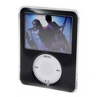 Crystal Protective Case for New 3rd Gen Video Capable Ipod Nano (Black)