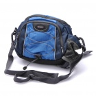 Outdoor Nylon Camera Waist Bag - Blue + Black
