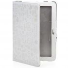 Cute Protective PU Leather Case for Samsung P7510 - White