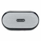 Portable Fashion Music Speaker Player with FM/AUX/USB/TF - Black + White
