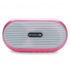 Portable Fashion Music Speaker Player with FM/AUX/USB/TF - Pink + White