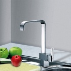 Modern Copper Chromeplated Kitchen Waterfall Sink Faucet - Chrome
