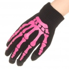 Cool Skeleton Hand Pattern Capacitive Screen Touching Hand Warmer Gloves (Pair/Random Color)