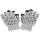 Anti-Slip Capacitive Screen Touching Hand Warmer Gloves (Pair/Random Color)