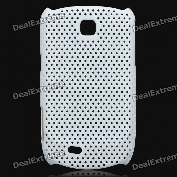 Mesh Protective ABS Back Case for Samsung Galaxy Mini S5570 - White mesh protective abs back case for samsung galaxy mini s5570 white