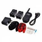 "0.9"" LCD USB Rechargeable 1-to-2 Remote Pet Training Collar - Black"